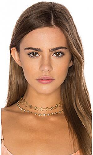 Чокер murray hill Natalie B Jewelry. Цвет: металлический золотой