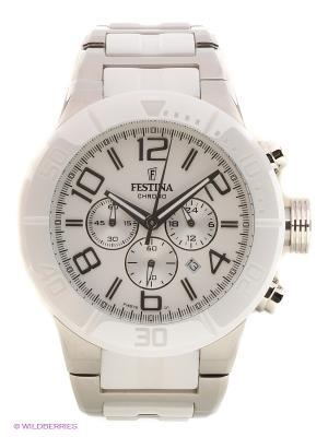 Часы Festina. Цвет: белый