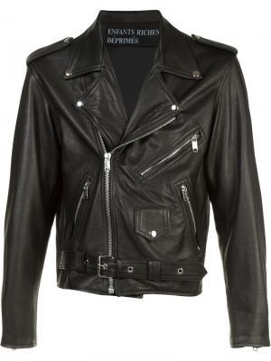 Куртка с клетчатым принтом сзади Enfants Riches Déprimés. Цвет: чёрный