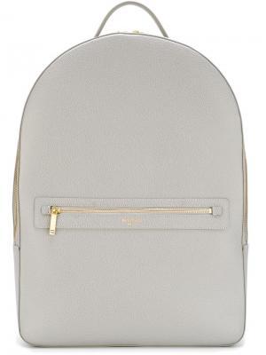 Рюкзак с карманом спереди Thom Browne. Цвет: серый
