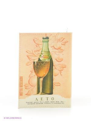 Обложка для паспорта Mitya Veselkov. Цвет: светло-бежевый