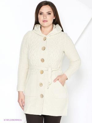 Пальто Milana Style. Цвет: бежевый