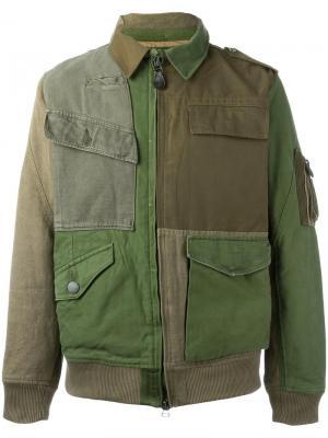 Куртка в стиле милитари Maharishi. Цвет: зелёный