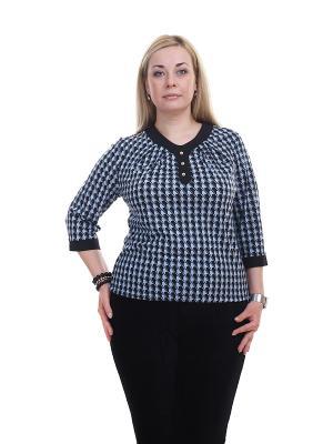 Блуза OLSI. Цвет: синий, черный