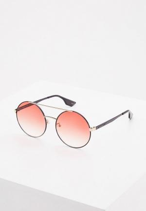 Очки солнцезащитные McQ. Цвет: золотой