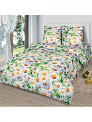Комплект постельного белья тк.Бязь Офелия Шоколад. Цвет: белый, зеленый