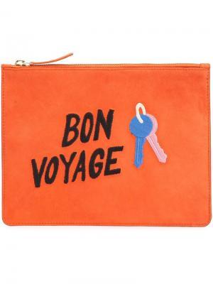 Клатч Bon Voyage Lizzie Fortunato Jewels. Цвет: жёлтый и оранжевый