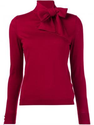 Вязаная блузка с бантом Vanessa Seward. Цвет: красный