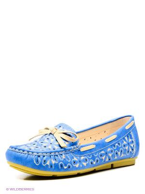 Мокасины Wilmar. Цвет: голубой