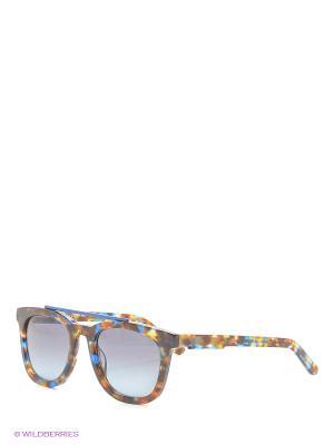 Солнцезащитные очки OXYDO. Цвет: синий, коричневый, рыжий