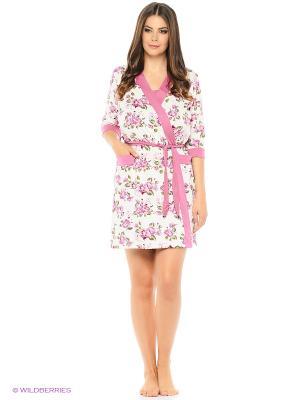 Комплект домашней одежды ( халат, ночная сорочка) HomeLike. Цвет: сиреневый