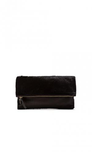 Клатч foldover clutch Clare V.. Цвет: черный