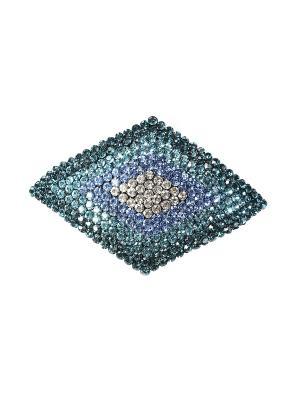 Заколка Migura. Цвет: серебристый,белый,синий,голубой