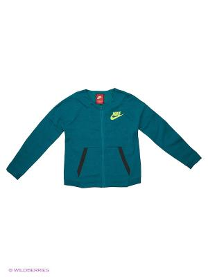 Толстовка G NSW TCH FLC JKT FZ KNT Nike. Цвет: зеленый