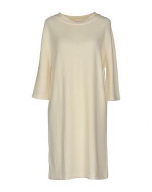 Короткое платье BARBON. Цвет: слоновая кость
