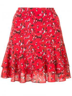 Плиссированная юбка с мелким принтом Grey Jason Wu. Цвет: красный