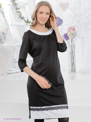 Платье ФЭСТ. Цвет: черный, белый