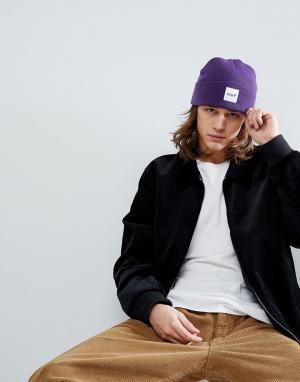 HUF Фиолетовая шапка-бини с логотипом. Цвет: фиолетовый