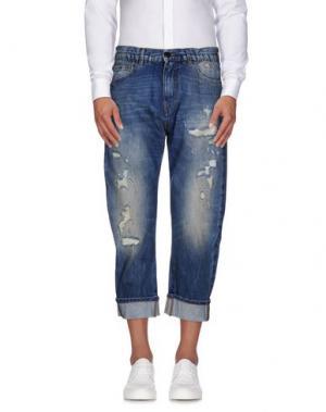 Джинсовые брюки LES HOMMES. Цвет: синий
