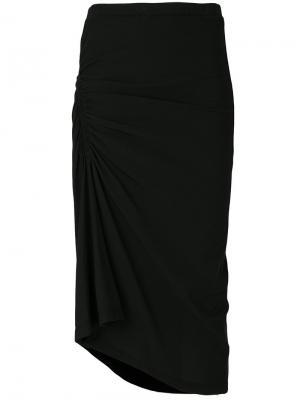 Присборенная юбка James Perse. Цвет: чёрный