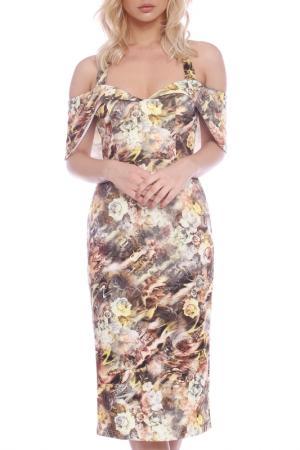 Dress Emma Monti. Цвет: beige, black, brown