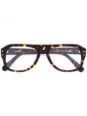 Очки Sechel Moscot. Цвет: коричневый