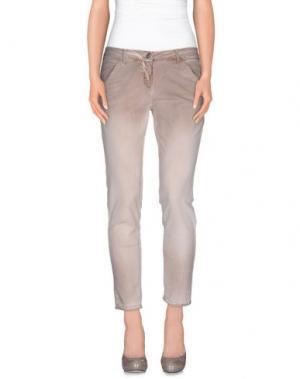 Повседневные брюки L'AIR DE RIEN. Цвет: голубиный серый
