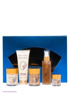 Подарочный набор Bio-Gold & Grape Cosmetics Set PULANNA. Цвет: прозрачный, золотистый