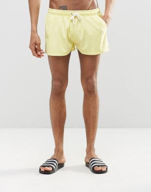 Heist Короткие шорты для плавания. Цвет: желтый