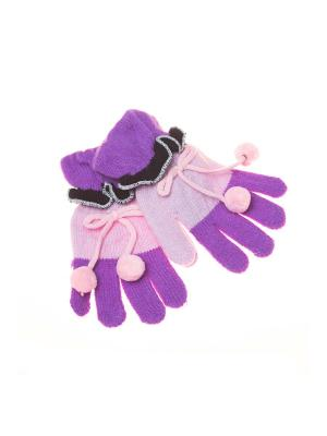 Перчатки Shapkoff. Цвет: фиолетовый, розовый