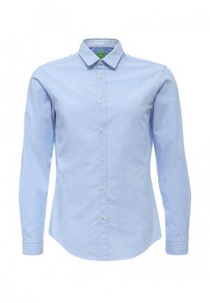 Рубашка Boss Green. Цвет: голубой