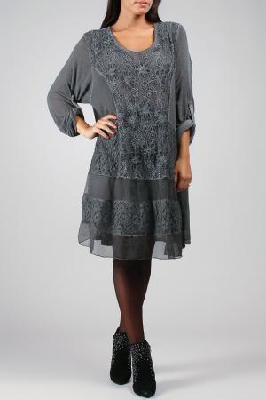 Платье La Fille de Couturier. Цвет: серый