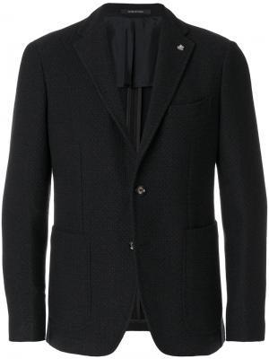 Пиджак на двух пуговицах Tagliatore. Цвет: коричневый
