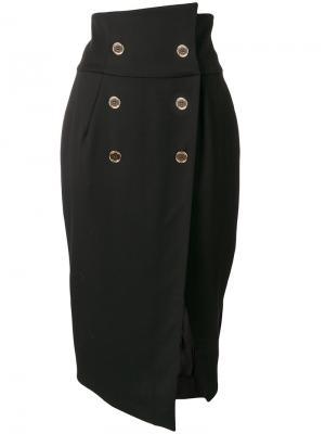 Двубортная юбка-карандаш Alexandre Vauthier. Цвет: чёрный