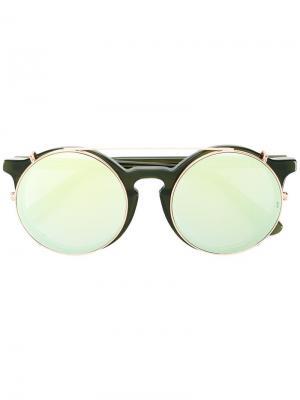 Солнцезащитные очки Matahari в круглой оправе Sunday Somewhere. Цвет: зелёный