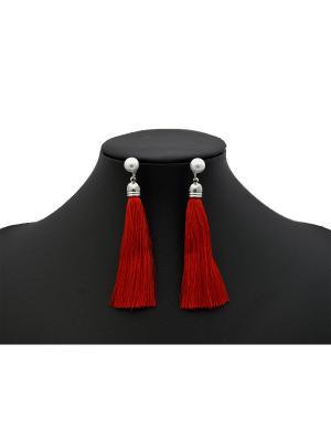 Серьги Miss Bijou. Цвет: красный, серебристый