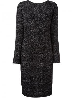 Платье с жаккардовым узором Steffen Schraut. Цвет: чёрный