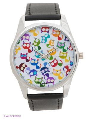 Часы Mitya Veselkov Кошки - мешанина. Цвет: черный
