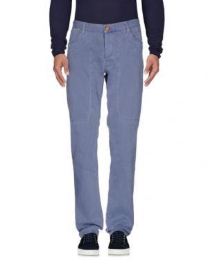 Джинсовые брюки JECKERSON. Цвет: грифельно-синий