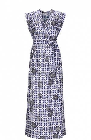 Вечернее платье с поясом Gerard Darel. Цвет: разноцветный