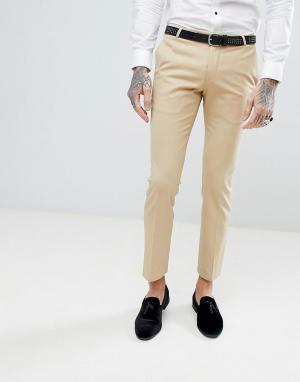 Noose & Monkey Супероблегающие брюки в стиле смокинга. Цвет: золотой