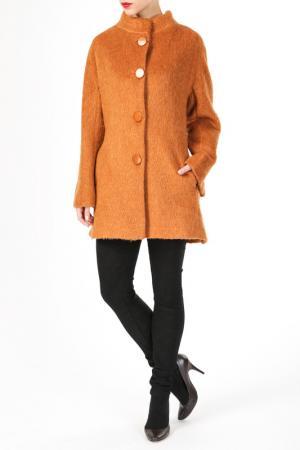 Пальто DONNA ENRICA. Цвет: оранжевый