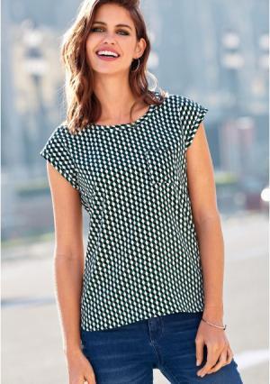 Блузка Venca. Цвет: зеленый (бутылочно-зеленый)