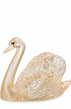 Скульптура Swan Head Up Lalique. Цвет: золотой
