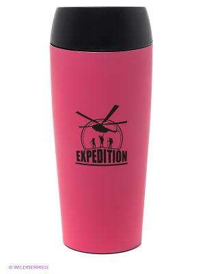 Автостакан розовый Экспедиция. Цвет: розовый, черный