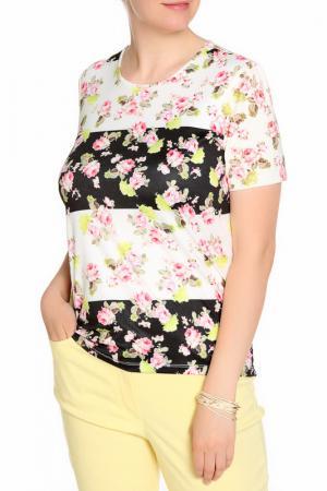 Блуза LOLA PALTINGER. Цвет: черный, белый