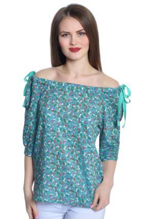 Блузка Rise. Цвет: зеленый (изумрудный)