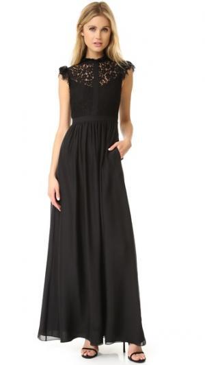Вечернее платье с кружевными вставками Rachel Zoe. Цвет: розовый