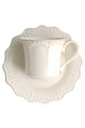 Набор чайных пар 220 мл 6 шт. H&H. Цвет: белый