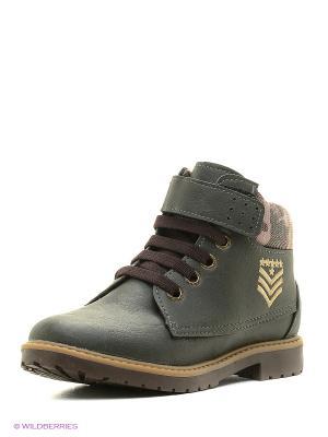 Ботинки Klin. Цвет: темно-зеленый
